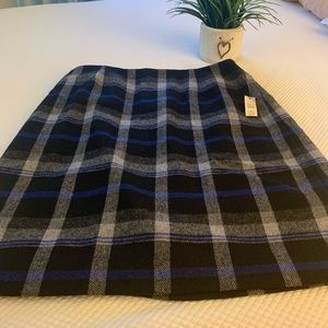 "Talbots A Line ""flannel"" skirt"
